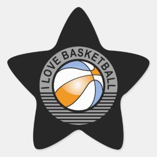 I love basketball star sticker