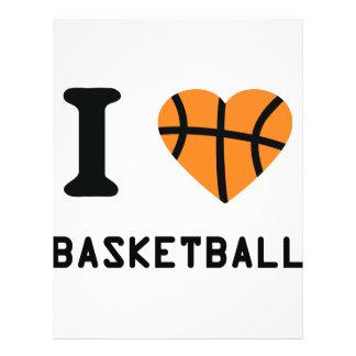 I love basketball symbol 21.5 cm x 28 cm flyer