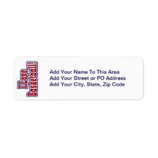 I Love Basketball T shirts and Gifts Return Address Label