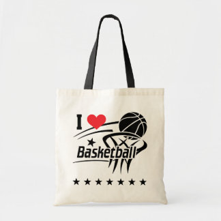 I Love basketball Tote Bag
