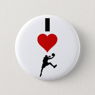 I Love Basketball (Vertical) 6 Cm Round Badge