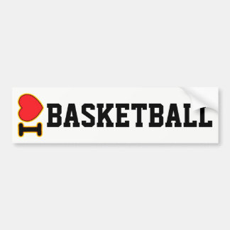 I love Basketballl Bumper Sticker