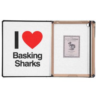 i love basking sharks iPad cover