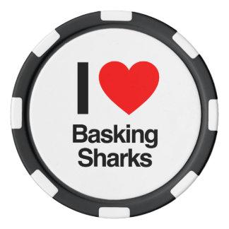 i love basking sharks set of poker chips