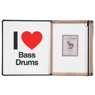 i love bass drums iPad cover
