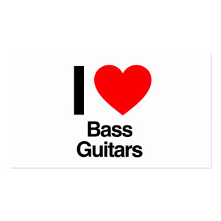 i love bass guitars business cards
