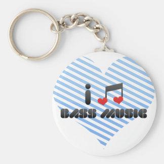 I Love Bass Music Keychains