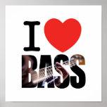 I Love Bass Poster