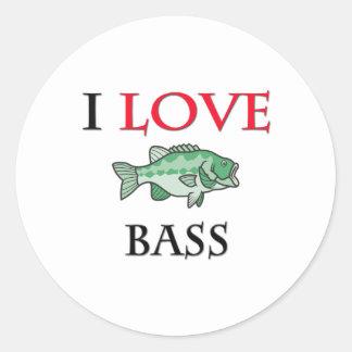 I Love Bass Stickers