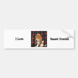I love Basset hounds bumper sticker
