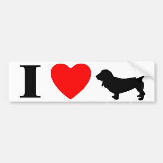 I Love Basset Hounds Bumper Sticker