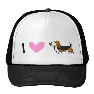 I Love Basset Hounds Cap
