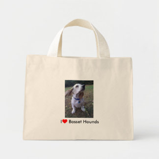 I love Basset Hounds Mini Tote Bag