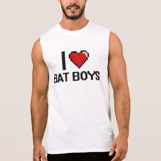 I love Bat Boys Sleeveless Shirt
