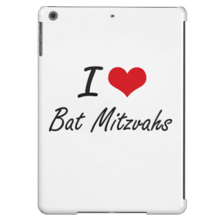 I Love Bat Mitzvahs Artistic Design iPad Air Covers