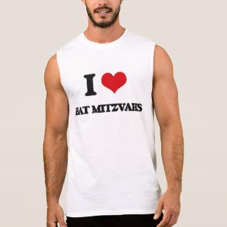 I Love Bat Mitzvahs Sleeveless Tees