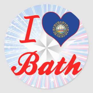 I Love Bath, New Hampshire Round Sticker