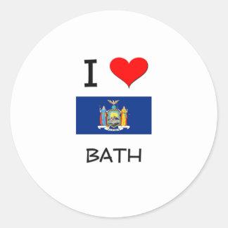 I Love Bath New York Stickers