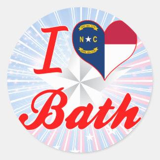 I Love Bath, North Carolina Round Sticker