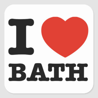 I love Bath Square Sticker