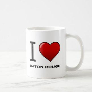 I LOVE BATON ROUGE,LA - LOUISIANA BASIC WHITE MUG