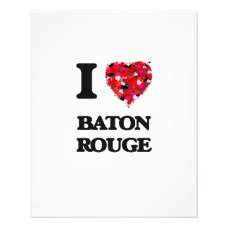 I love Baton Rouge Louisiana 11.5 Cm X 14 Cm Flyer