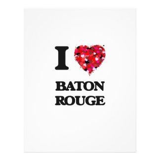 I love Baton Rouge Louisiana 21.5 Cm X 28 Cm Flyer