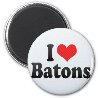 I Love Batons 6 Cm Round Magnet