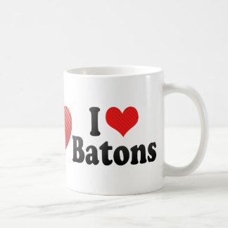 I Love Batons Basic White Mug