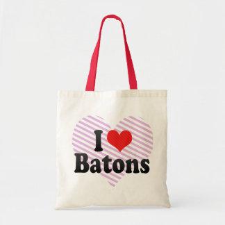 I Love Batons Budget Tote Bag