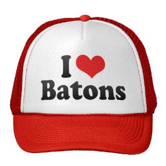 I Love Batons Cap