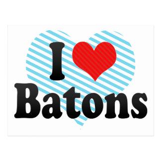 I Love Batons Postcard