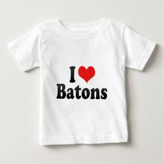 I Love Batons T Shirts