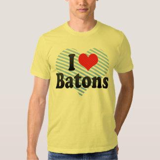 I Love Batons Tee Shirts