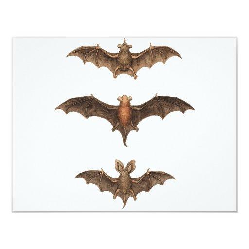 I love bats 4.25x5.5 paper invitation card