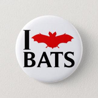 I Love Bats 6 Cm Round Badge