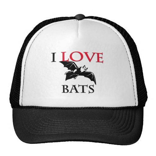I Love Bats Mesh Hat