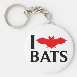 I Love Bats Key Ring