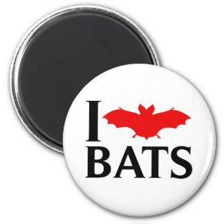 I Love Bats Refrigerator Magnets