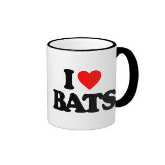 I LOVE BATS RINGER COFFEE MUG