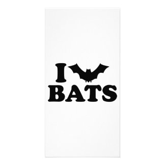 I love bats personalized photo card