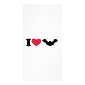 I love bats picture card