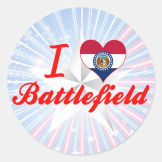 I Love Battlefield, Missouri Round Sticker