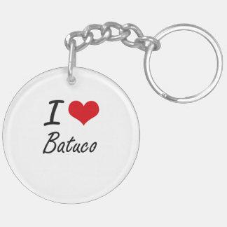 I Love BATUCO Double-Sided Round Acrylic Key Ring