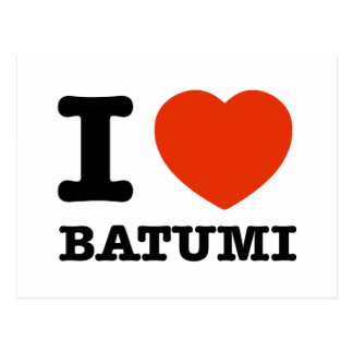 I Love Batumi Postcard