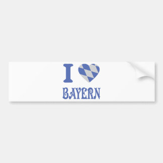 I love bayern icon bumper sticker