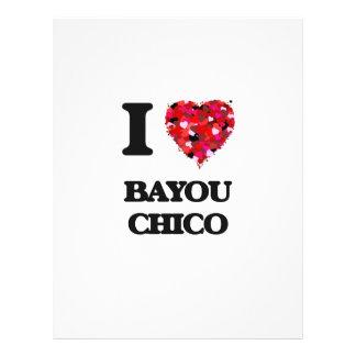 I love Bayou Chico Florida 21.5 Cm X 28 Cm Flyer