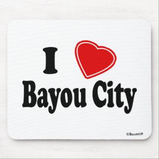 I Love Bayou City Mouse Pad