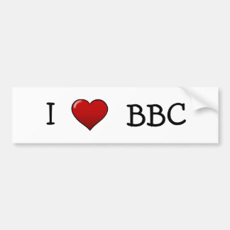 I Love BBC Bumper Sticker