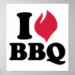 I love BBQ - Barbecue Print